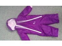 Baby snowsuit purple