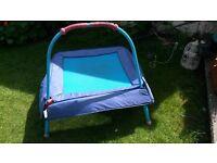 Small kids blue trampoline.