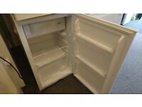 Unbranded white under counter fridge with freezer compartment