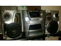 Panasonic hifi system 5 disc changer 300 watts