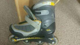 Kids inline skates / roller blades adjustable size