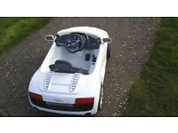Audi r8 spider electric car