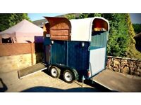 Horse box bar, catering trailer . New conversion