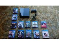 PlayStation 4 with 12 games