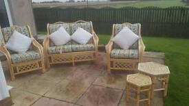 5 piece cane sofa set