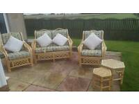 5 piece cane sofa set