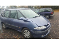 RENAULT ESPACE 2 LITRE AUTOMATIC. IMMOBILISER FAULT HENCE CHEAP. NO MOT