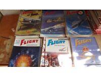1950/60'S AIRCRAFT 'FLIGHT' MAGAZINES. APPROX 20