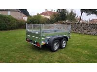 New trailer 10 x 5 twin axle-build with mesh and braked 2700kg £ 1900 inc vat