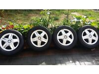 15 inch Vauxhall Alloys For Vectra zafira astra omega with excellent tyres. 5 × 110.