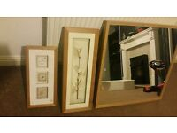 Mirror and canvas/ picture frame