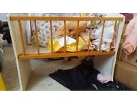 Old style kids doll cot