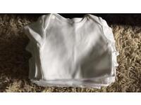 0-3 Unisex plain white vests