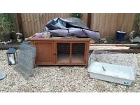 Rabbit hutch, Thermal cover, Indoor cage, 8 Sided outdoor run,