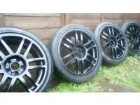 "17"" 5x100 cntre 57.6 32ofst alloys vw polo golf mk4"