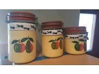 Ceramic storage pots