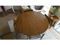 Really stylish 70's style dining table and chairs set