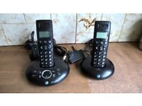 BT Twin Cordless Phones with answer machine