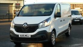 2015 RENAULT TRAFIC 115 BHP BUSINESS EDITION. ONLY 24000 MILES. PLY LINED. BULKHEAD ETC. NEW MODEL.