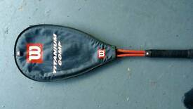 Wilson titanium racket and case as new £8