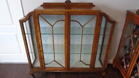Art Deco Display Cabinet, Art Deco China Cabinet, Very Good Antique Condition