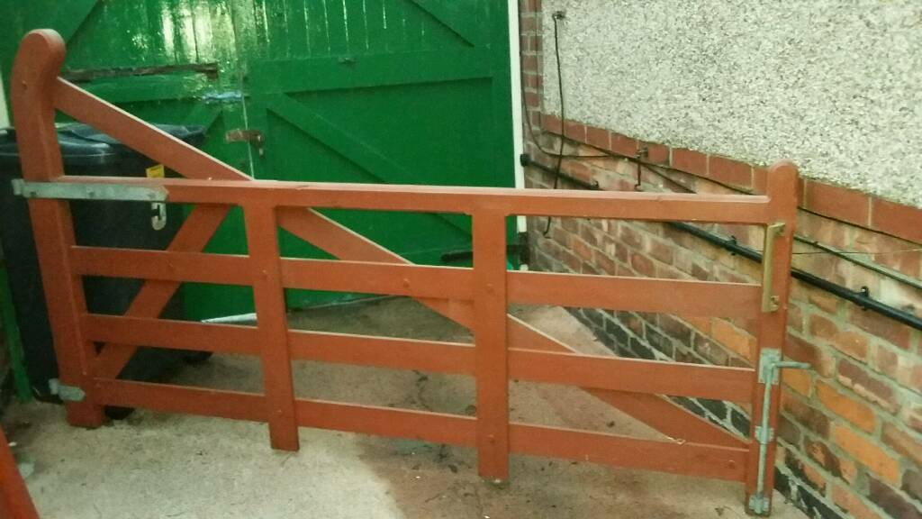 Large Wooden Farm Style Gates For Drive In Whitley Bay Tyne And