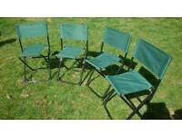 4 Child Size Folding Camping Chairs