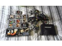 Nintendo N64, three pads and games