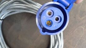 240 volt hook up lead 10 metres heavy duty armoured cable