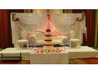 Wedding, Mehndi Stages, Floral Stages, Walkways & Chair covers For Hire