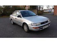 1992 Toyota Corolla Saloon 1.3 Manual Petrol, 55,000 miles, Low Mileage