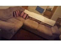 Large corner sofa in fabric over £1000 brand new 6 months old