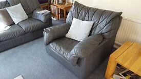 3 piece suite: sofa + armchairs