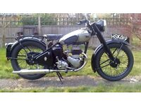 1946 BSA C10 250cc motorcycle for sale. Very original condition. Great runner.