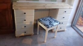 Reburbished shabby chic pine dressing table