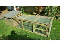 Rabbit Chicken Guinea Pig House Hutch and Run