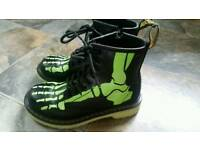 Doc Martens skeleton boots (fab condition) - size 12