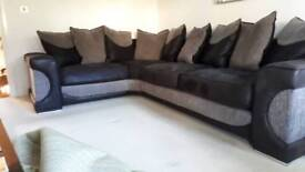 Corner settee and large swivel cuddle chair
