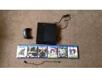 PS4 + 6 games (GTA 5, Black Ops 3, FIFA 16 etc) perfect condition and VERY cheap