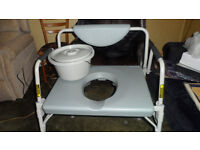 used bariatric commode, fully adjustable, only about 8 weeks old, like new