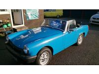FANCY A CLASSIC CAR FOR CHRISTMAS THEN HERES OUR 1978 (S) MG MIDGET 1500 SPORT IN BLUE NEW MOT 64K +