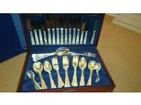 Cutlery set silver plated