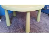IKEA MAMMUT CHILDREN'S GREEN TABLE