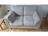 2 Seater Sofa (Cane/Grey)