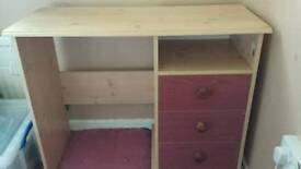 Desk with three draws good condition.