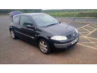 2004 RENAULT MEGANE 1.4 WITH JUST 76,000 MILES FROM NEW, FULL 12 MONTHS MOT, 3 OWNERS FROM NEW