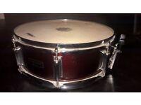 Mapex Tornado Snare Drum. Dark Red