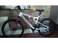 MUDDY FOX PRO WOMENS/TEENS PARALLEL MOUNTAIN BIKE FULL SUSPENSION £90