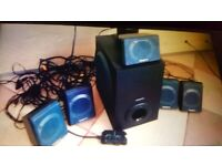 PC multimedia speakers. Collect today cheap. can deliver locally. ideal Christmas present.