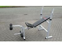 YORK B530 WEIGHTS BENCH WITH LEG CURL - incline - decline - flat